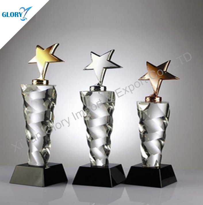 Wholesale Star Theme Glass Crystal Anniversary Memento Gifts