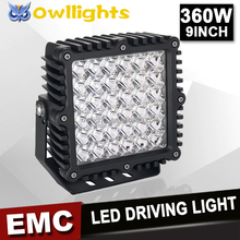 New product car accessries square 4x4 4wd 12V 180w 360w LED Spot Driving Light high power 9 Inch LED Work light for heavy duty
