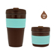 Bpa Free Reusable Coffee Mug Foldable Silicone Rubber Expandable collapsible travel cup