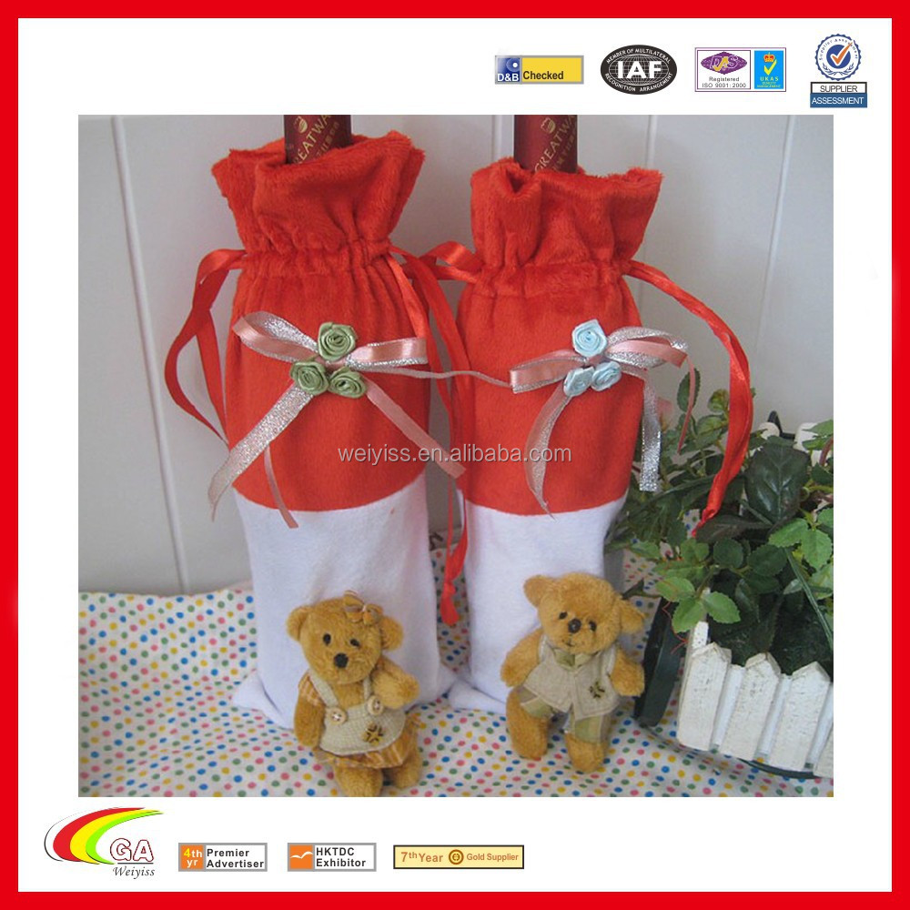 Decorative Wine Gift Bag for Christmas, Christmas wine bag manufacturers & wholesales & manufacturers