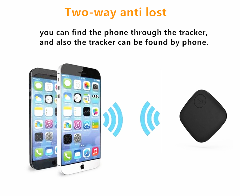 4 colors available square child tracker bluetooth mini finder for pet with low consumption