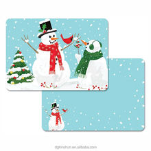 Christmas Holiday Placemats Washable Plastic Placemats for Baby