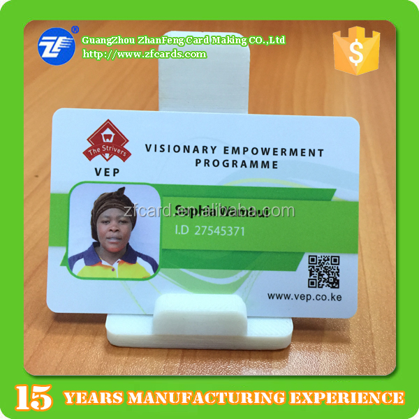Re-printed plastic id cards/photo id cards/badges
