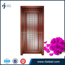 classic and luxury design of wood flush door looking