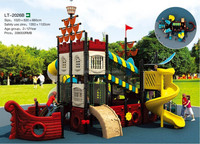 Newest children outdoor playground big slides equipment for sale LT-2026B