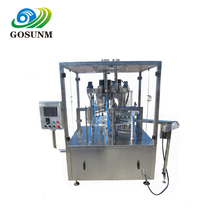 Plastic Cup Or Box Automatic Rotary Type Yogurt Cup Filling Sealing Machine