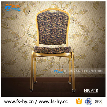aluminum gold stacking hotel wholesale banquet chair for sale