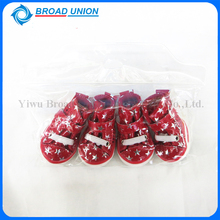 Durable Stars Printed Dog Boots Red Pet Shoes Christmas Pet Supplies