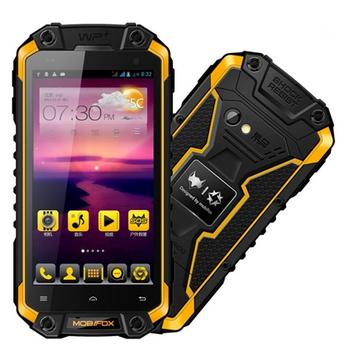 MOBIFOX J5 4.5 inch rugged phone 1G 16G Camera 2.0MP 8.0MP Quad Core MTK6589T IP68 best military grade rugged cell phone
