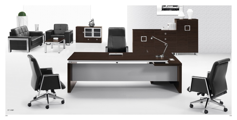 Good quality E1 melamine board executive office desk table