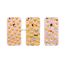 Cartoon emoji printed phone case TPU back cover for iphone 5 6 7 7plus funny emoji party case for iphone 6plus