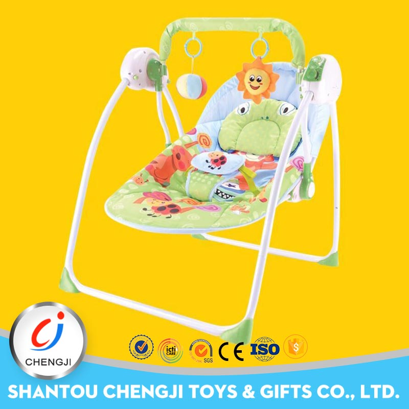 Hot sell popular design electric automatic swing baby bed
