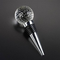 Wedding Gifts Crystal Golf Ball Wine Stoppers/crystal Wine Stopper MH-L0263