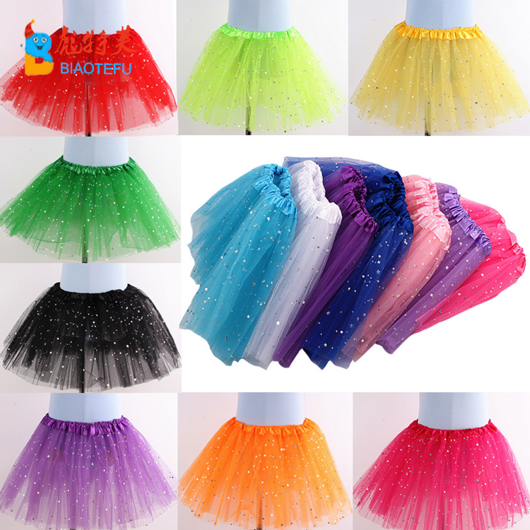 30cm cheap 3 layers puffy tulle tutu skirt dress