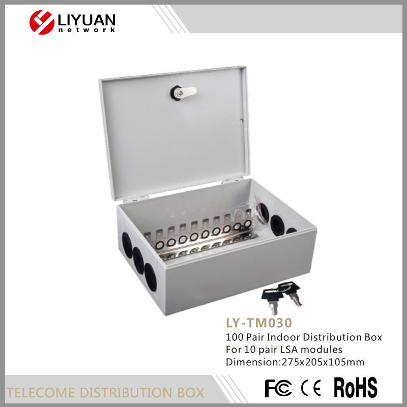 LY-TM030 Zhejiang 100 Pair Indoor Telecom distribution box For 10 pair LSA modules