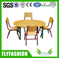 SF-13C Durable Kids Wooden Round Table With 4 Chairs Children Dining Table