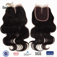 body wave Brazilian Human Hair Extension Virgin Hair Bundles With grey hair top closure