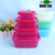 round rectangle 4pcs airtight food lock plastic storage food container set