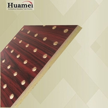 15pcs one box packing perforated acoustic wall panel fiber glass ceiling board