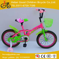 2016 Summer kid bicycle beautiful bicycle for 3 years old girl children bike with trainning wheels