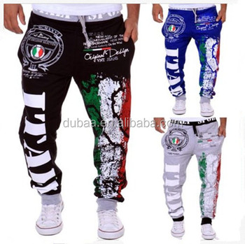 Mens Drawstring Jogginghose Italia Italien Italy Printed Loose Fit Sports Sportshose Pants Joggers