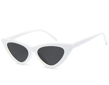 Fashionable Sun Shade Glasses White Frame Colorful Cat Eye Sunglasses Women