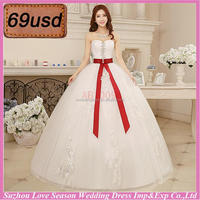 OYSC69-21 2015 cheap price with low price white and red wedding dress