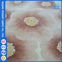Promotion custom wool carpet flower pattern tufted hand rug
