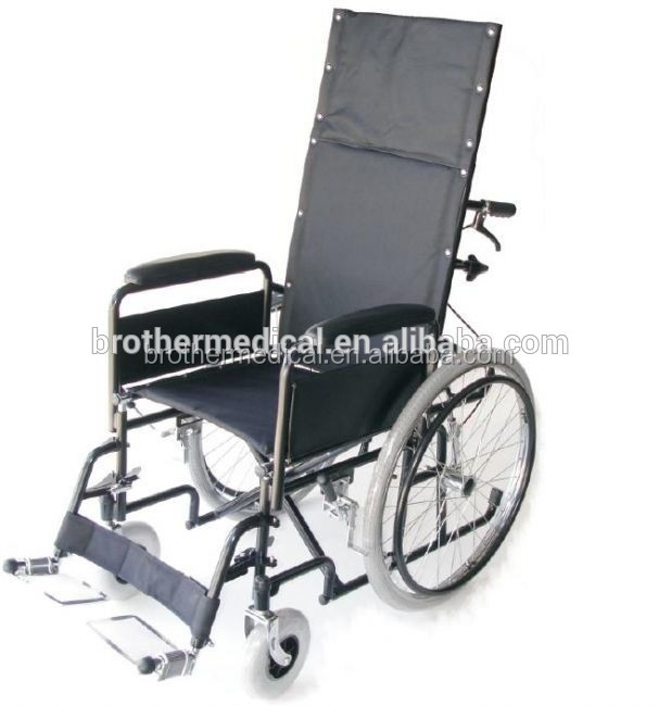 xy High back manual wheelchair with half lying and safety belt