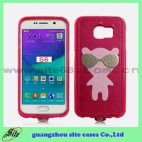 For Samsung S6 case , Cool Bear Cases with Strap , TPU case cover for mobile phones