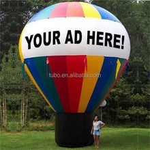 Hot sale inflatable balloon for promotion ,advertising ground balloon with strip