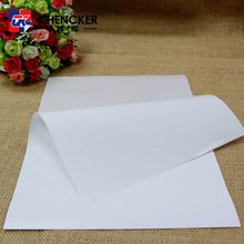 Self adhesive semi glossy coated art paper for food or book labels printing