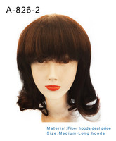 100% high quality wholesale cheap large stock synthetic wig, human wig caps