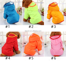 Fashionable Pet Raincoat Waterproof Hooded Dog Raincoat