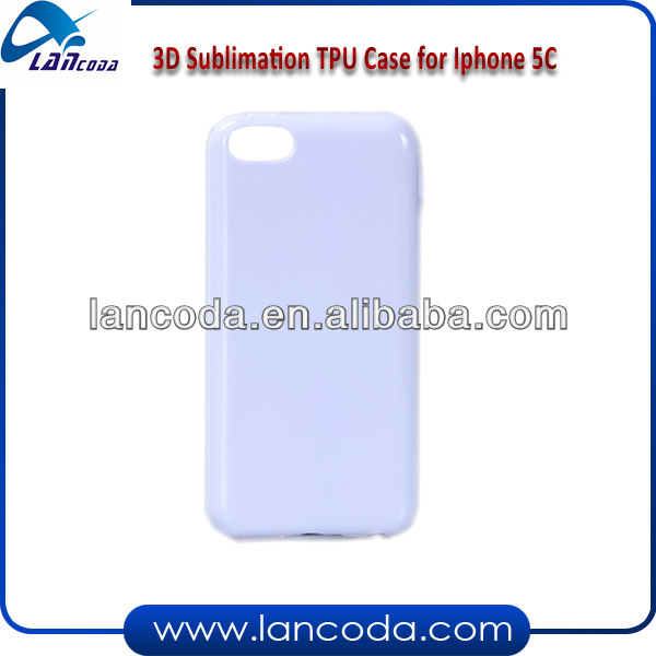 3d Sublimation tpu cell phone case for iphone5c
