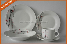 promotional ceramic dinnerware set ceramic pasta soup plate set with cup and saucer set