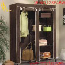 JP-WR125FABW Heavy Distressed Solid Wood Wardrobe Antique Wooden Cabinet Closet