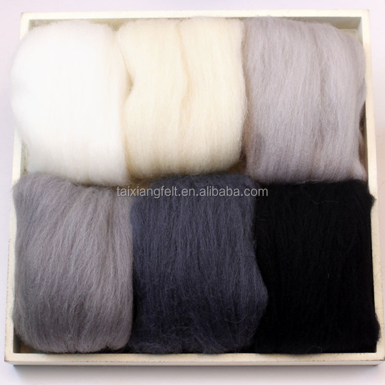 combed fine sheep cashmere colorful wool fibre