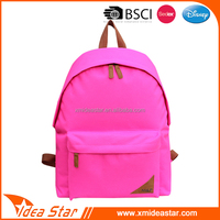Wholesale polyester pink backpack abrasion fashion strong school bag