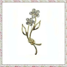 Fashion Jewerly Cheapest Simple Flower Crystal brooch