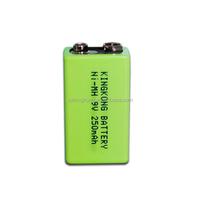 250MAH NI-MH full power high capacity 6F22 6lr61 9v battery