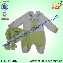 cute design collar neck baby rompers wholesale soft baby winter suits