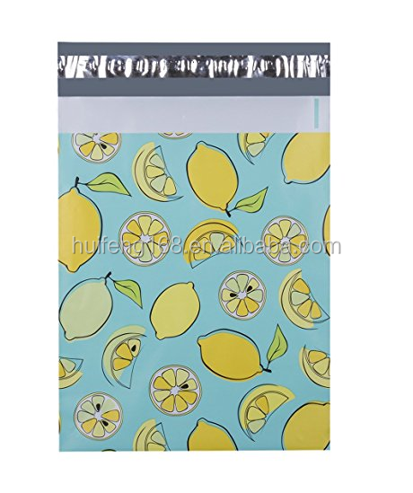 Custom 6X9 Lemon Designer Gift Poly Mailers Shipping Envelopes