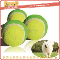 Tennis ball latex pet supply ,CC011 tennis dumbbell shape dog toys for sale