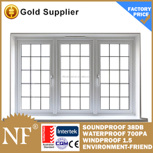 white casement lg upvc windows with grill design