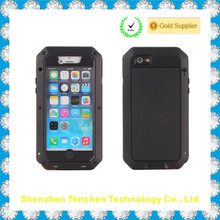 For iPhone 4s Case, Aluminum Shockproof Dustproof Waterproof Gorilla Glass Metal Case Cover for iPhone 4 / 4S