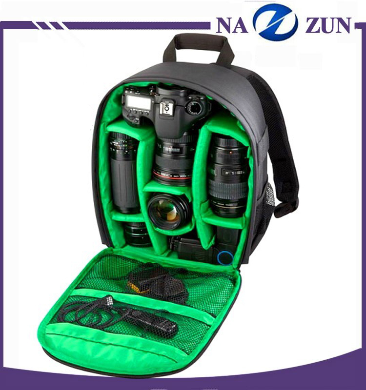 China Wholesale Best selling fashion waterproof camera bag backpack photo video camera bag with rain cover