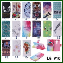 PU Leather folding wallet phone stand case Pouches shell for iphone5 SE LG V10