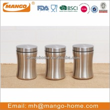 kitchen sealed tea coffee sugar stainless steel food storage canister sets