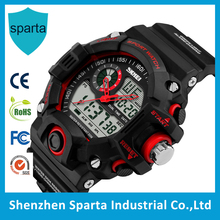 Good quality sport digital military watch new shock g style,50m waterproof sport army men dual time watch